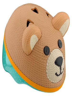 casco de bebe oso de peluche